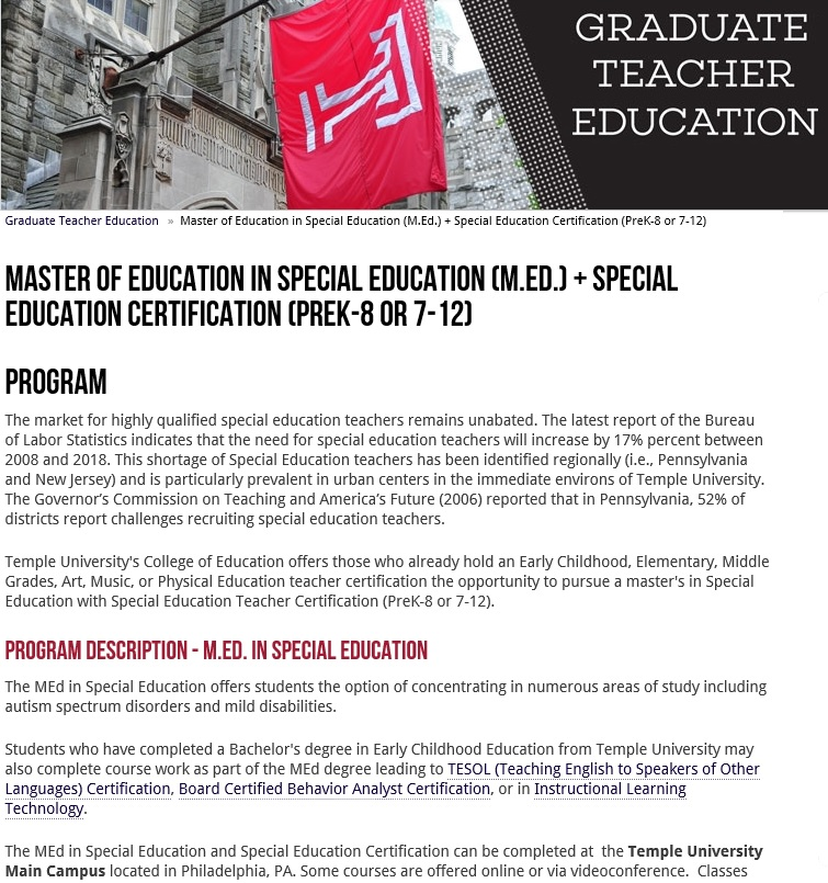 Online Special Education Certification Gallery Creative